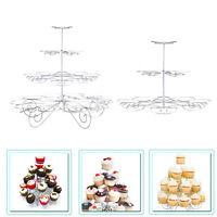 3/4 Tier Cupcake Metal Stand Muffin Holder for Birthday Wedding Parties Events