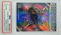 2019-20 Donruss Optic Fantasy Stars Purple Prizm Lebron James #14, Graded PSA 10