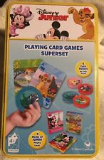 DISNEY JUNIOR PLAYING CARDS SUPER SET Go Fish, Crazy Eights, Rummy MICKEY MOUSE