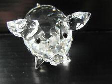 Genuine(swan stamp) swarovski crystal pig 3.8cm high, 5.5cm long excellent
