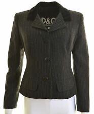 DOLCE & GABBANA Womens Blazer Jacket IT 44 Medium Black Striped Viscose  AE05