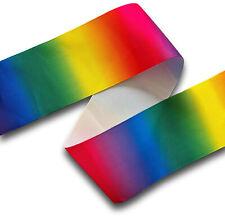 5 Yards Rainbow Gradient Single Sided Pride Grosgrain Ribbon 75mm Wide UK