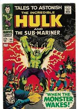 1968 Marvel-Tales to Astonish-Incredible Hulk & Sub-Mariner- 12 Cents Issue-FN