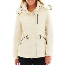 Zipper Pocket Puffer Hooded Jacket - Longer Sleeves -Large Tall NWT Ladies