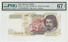 6.5.1994 BANCA D' ITALIA 100,000 LIRE ITALY (( PMG 67 EPQ ))