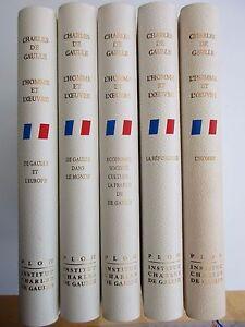 De Gaulle l'Homme et l'Oeuvre en 5 volumes Club Français des Bibliophiles 1993