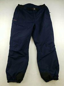 Columbia Sportswear Navy Blue Snow Ski Pants Shell Men's Size Large