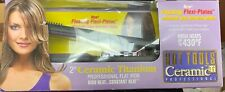 "HOT TOOLS Professional 2"" Flat Iron Ceramic Titanium With Flexi-Plates ~ New"