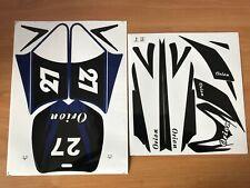 adesivi minimoto cross 49cc sticker mini moto modello orion apollo sdk blu