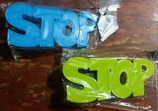 Stop Door Holders Silicone Lot of 2 Holders Blue and Green Colors New in Package