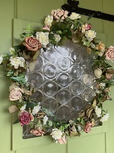 SWEET Handmade Floral Foilage ROSES PRETTY Door Wall  Table WREATH GARLAND