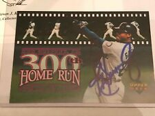 844067f56f 1998 Ken Griffey Jr auto autograph Upper Deck 300th HR hand signed card COA