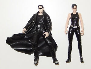 2 Matrix Figuren Neo + Trinity - Spielfigur Action N2 Toys 1999