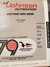 1979 JOHNSON EVINRUDE OUTBOARD 6 HP SERVICE REPAIR MANUAL INSTRUCTION BOOK