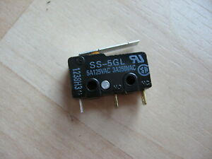 Omron Micro Limit Switch SS-5GL with Straight Lever 5A 125VAC #E66AB
