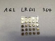 AG1 LR621 364 LR60 363 Alkaline Button Cell Battery batteries usa fast ship x25