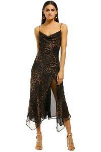 Misha Johanna Dress in Leopard Size 10