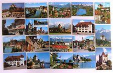 Postkarten Sammlung Schweiz 19 x THUN im Kanton Bern AK ungebraucht ~70/80er J.