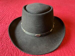 7 1/4 Stetson Royal Flush Gun Club black western fur felt cowboy hat 4x 5x
