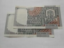 Italy, 2x 10.000 Lire Banknotes, 1982, XA...E, Replacement, Serie sostitutiva.