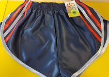 nailon Glanz Satén SPRINTER corto pequeño-xxxxl AÑOS 70 & 80 retro, azul marino,