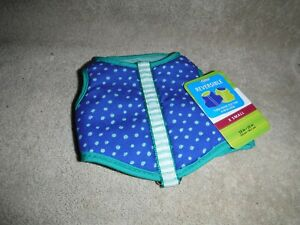 Top Paw Reversible Vest Harness X SMALL Girth 10-12 in. Blue/Green NEW