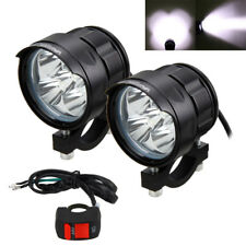2PCS 50W 5x XM-L T6 LED Motorcycle Headlight Driving Fog Light Spot Lamp+Switch