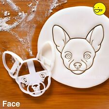 Chihuahua face Cookie Cutter | Mignon Treats Dog Rescue Shelter Pet Vet biscuit