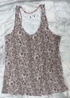Ladies snakeskin snake skin pattern grey vest top, Size 8 10 12 14 NEW, EX store
