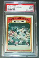 1972 TOPPS CARL YASTRZEMSKI IN ACTION  #38 PSA MINT 9 O/C RED SOX