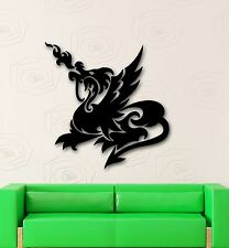 Wall Stickers Vinyl Decal Flame Dragon Mythical Creature for Kids (ig1724)