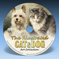 THE ILLUSTRATED CAT & DOG - Over 690 Paintings & Drawings on DVD!