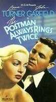 The Postman Always Rings Twice VHS 1946 Lana Turner John Garfield MGM/UA