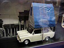 TRABANT 601S 601 hell grau / mit Dachzelt blau Camping 1980  IST IXO 1:43