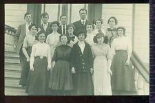 RPPC Class Photo Teens Teacher Vintage Unused Postcard