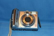 Canon Power Shot A560 7.1-Mp Digital Camera Silver Usb Cable Wrist Strap Silver