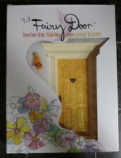 LITTLE FAIRY DOOR Kit Sparkly Yellow Gold Dust Fairies NEW from Australia
