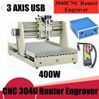 USB 3Axis CNC 3040 Router Engraving Milling Machine 3D Wood Cutter 400W +Remote