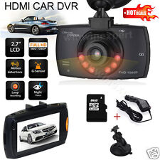 1080P Full HD Car Dash DVR Camera Video Recorder Cam Night Vision G-Sensor NEW