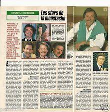 Coupure de presse Clipping 1989 Les Stars de la moustache  (1 page 1/2) cabrel