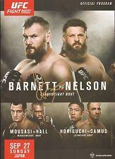 Josh Barnett Signed UFC Fight Night 75 Program BAS COA 2015 Japan vs Roy Nelson