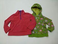 2 Girls Size 3T Monkey Sweatshirt & Pink Fleece Shirt Great Condition
