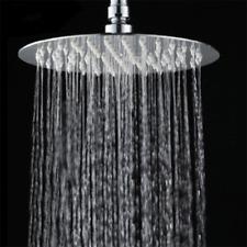 "8"" Round Stainless Steel Rain Water Shower Head Rainfall Bathroom Chrome Sprayer"