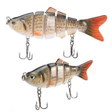 Fishing Wobblers 6 Segments Swimbait Crankbait Fishing Lure Bait with Hook RR