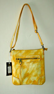 New Bella Belly ZipedBag Woman's Handbag Shoulder Bag Yellow Eco Leather 27x25cm