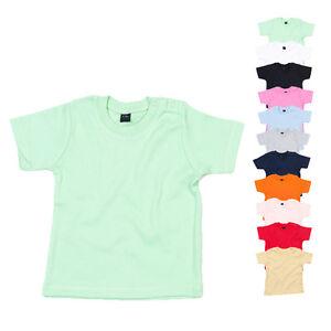 Babybugz Baby T-Shirt aus Bio-Baumwolle BABY T Einfarbig Kurzarm Neu BZ02