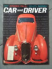 1962 MARCH CAR & DRIVER MAGAZINE ALFA ROMEO 1939 FERRARI FIAT 2300S SPIDER 2000