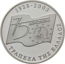 20€ Silver 925 Proof OFFICIAL BOX CERTIFICATE 75 YEARS 1928-2003 BANK OF GREECE