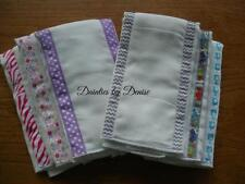 Set of 3 Decorated Baby Burbs Cloths,Very absorbent, Pick Girl or Boy Set NEW!