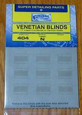 Builders In Scale N  #404 Venetian Blinds (17 Laser-Cut Blinds in Various Sizes)